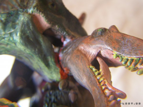 T-Rex vs Spino: Deathly fight Diorama